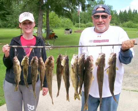 Fishing guide Charlie Worrath's happy clients