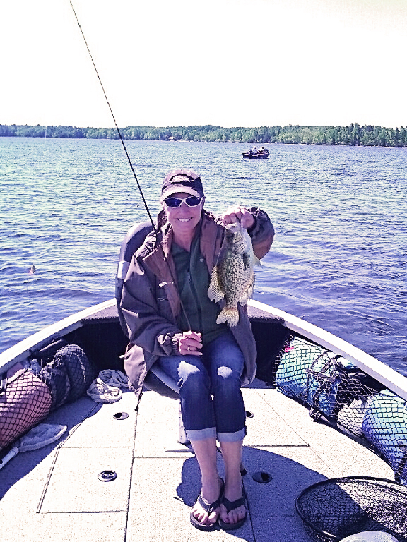 Northern MN fisherman with giant crappie