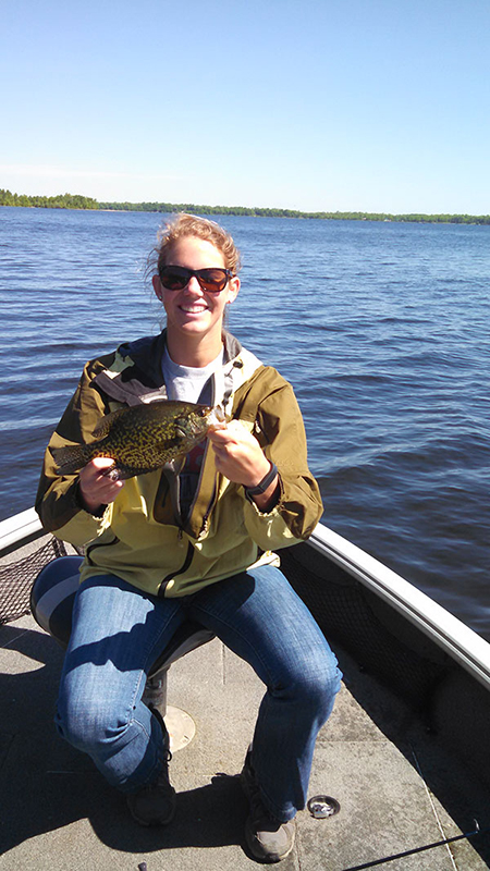 Jeff Skelly fishing guide clients with crappie catch