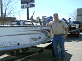 MN Fishing Pro jason Boser with his Alumacraft Competitor 185 guide boat