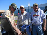 Jason Boser, Jeff Skelly and Bill Broberg the D.A.R.E. fish fry, May 2012