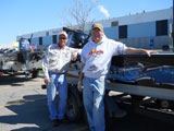MN Fishing Pros Jeff Skelly and Bill Broberg at the D.A.R.E. fish fry May 2012