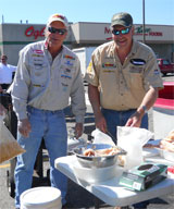 MN Fishing Pros at the D.A.R.E. fish fry, May 2012