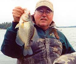 MN Fishing Pro Bill Broberg showing off a crappie